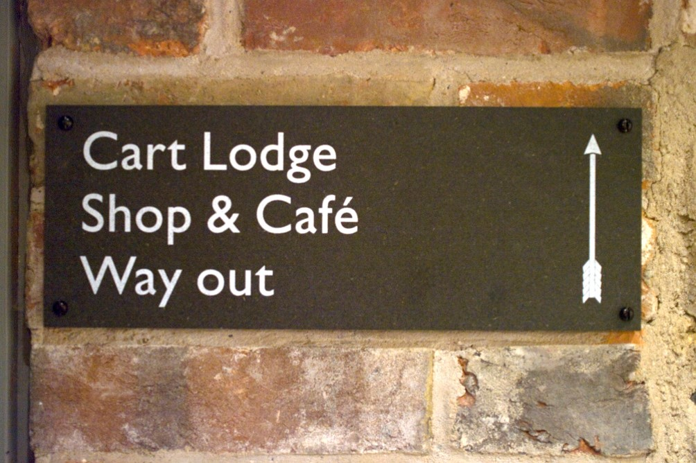 Phil Baines, Signage at Ditchling Museum, 2013