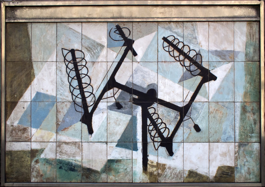 Dorothy Annan mural on the Fleet Building, London. Photograph courtesy Gordon Haws.