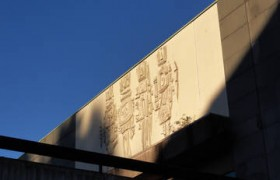 Greenock Library by John Kennedy carving