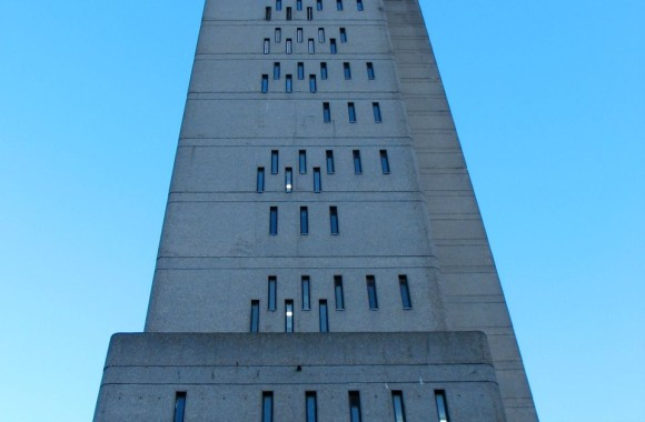 Trellick Tower end-on