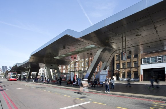 Exterior of Vauxhall Bus Station