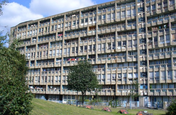 Robin Hood Gardens estate, by Alison and Peter Smithson