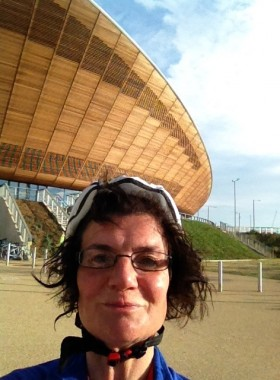 Elain Harwood at Velodrome Ride 100 start